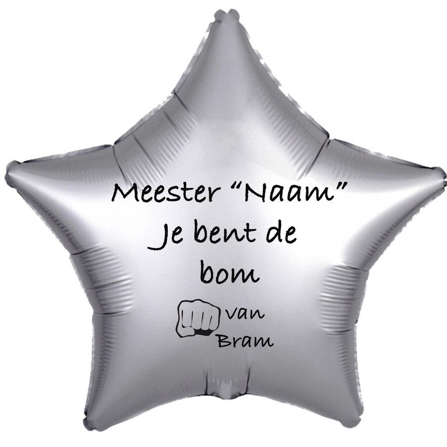 Folieballon Meester je bent de bom - Met Naam-3