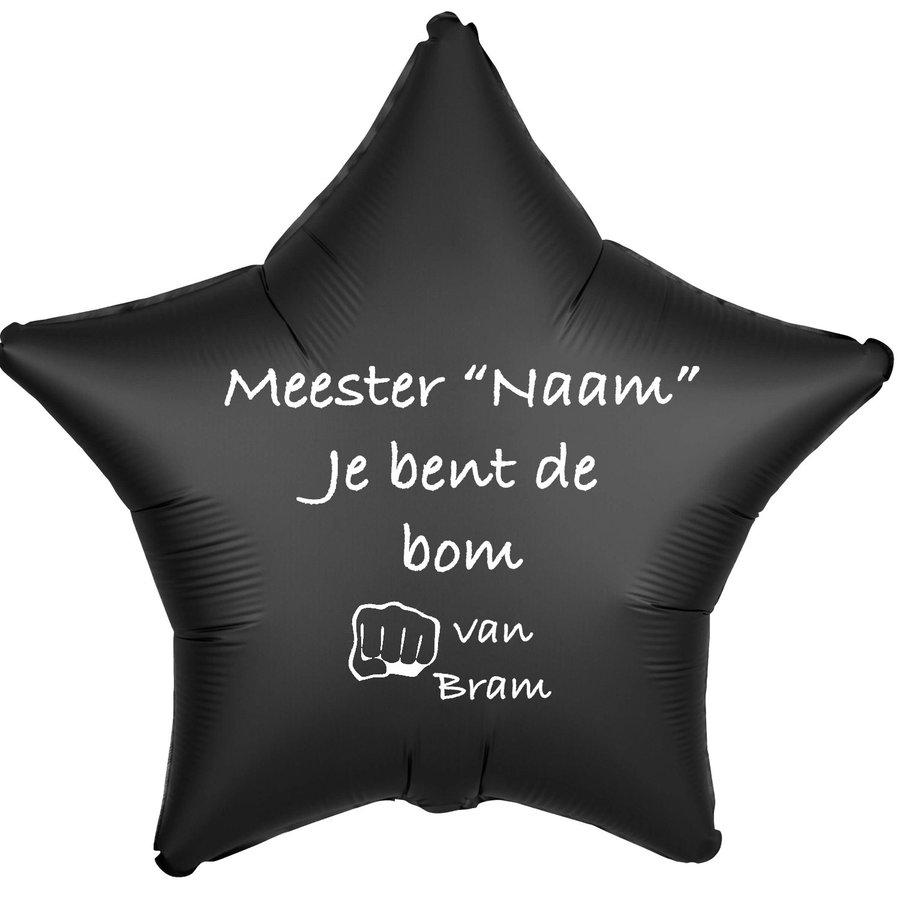 Folieballon Meester je bent de bom - Met Naam-4