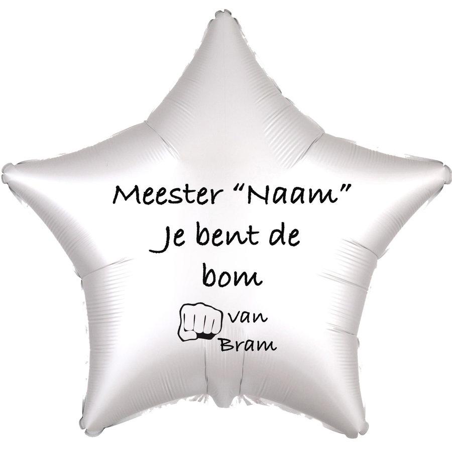 Folieballon Meester je bent de bom - Met Naam-5