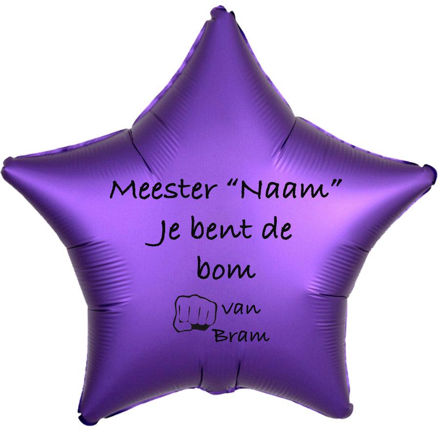 Folieballon Meester je bent de bom - Met Naam-6