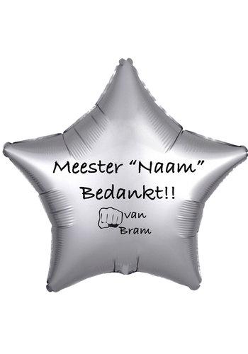 Folieballon Meester bedankt - Met Naam