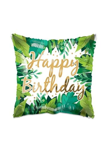 Folieballon ECO Birthday Foliage