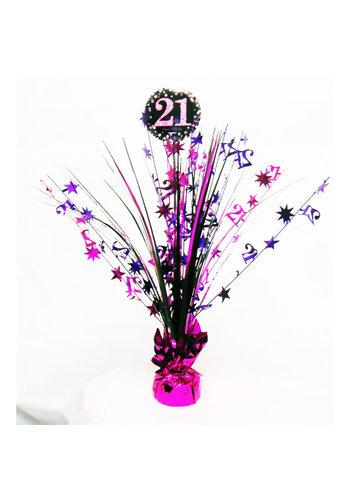 Centerpiece 21 Sparkling Celebration Pink - 45,7 cm