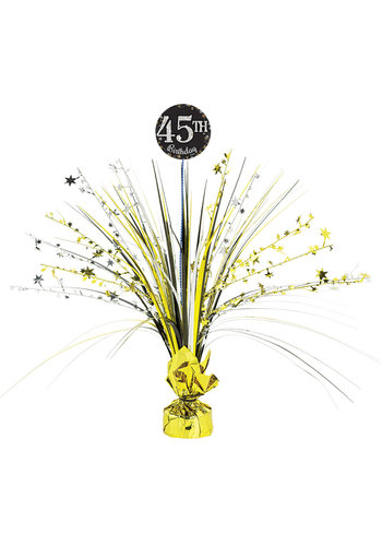Centerpiece Sparkling Gold Celebrations met Add Age-stickers
