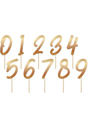Tafelnummers Goud - 0 t/m 9