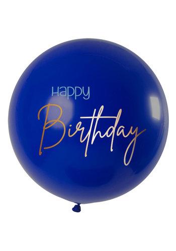 Ballon Elegant True Blue Happy Birthday XL - 80cm