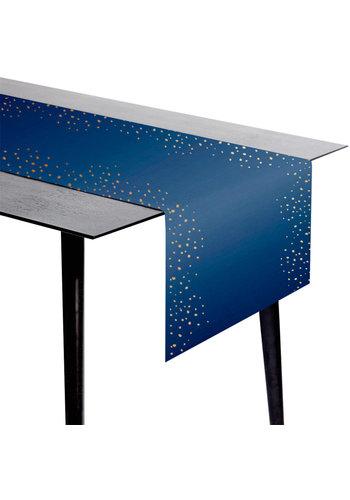 Tafelloper Elegant True Blue - 240x40cm