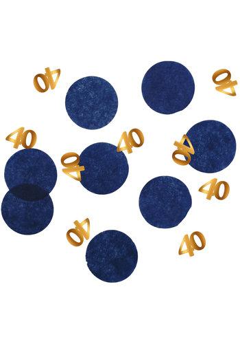 Confetti Elegant True Blue 40 Jaar - 25 gram