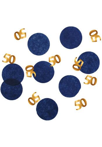 Confetti Elegant True Blue 50 Jaar - 25 gram