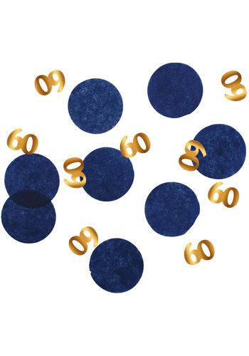 Confetti Elegant True Blue 60 Jaar - 25 gram