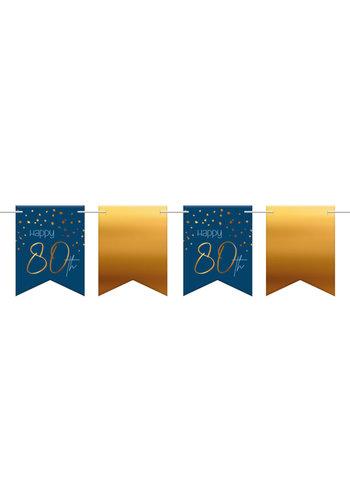 Vlaggenlijn Elegant True Blue 80 Jaar - 6 meter