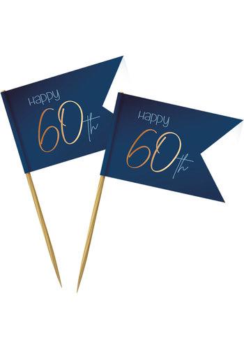 Prikkers Elegant True Blue 60 Jaar - 36 stuks