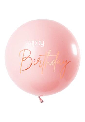 Ballon Elegant Blush Happy Birthday XL - 80cm
