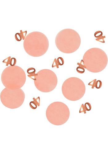 Confetti Elegant Blush 40 Jaar - 25 gram
