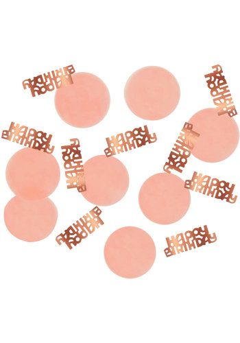 Confetti Elegant Blush Happy Birthday - 25 gram