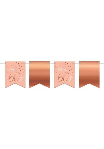 Vlaggenlijn Elegant Blush 60 Jaar - 6 meter