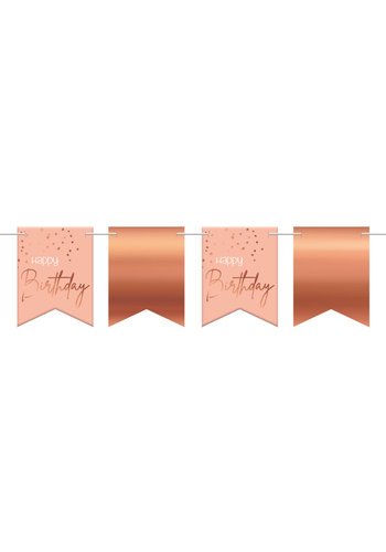 Vlaggenlijn Elegant Blush Happy Birthday - 6 meter