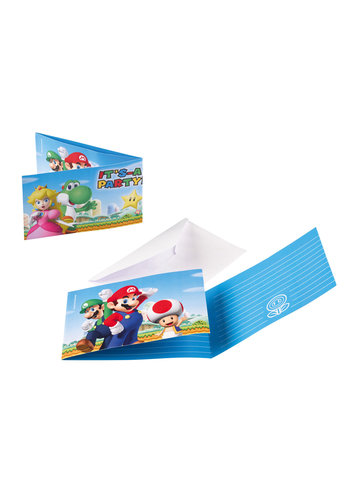 Super Mario Uitnodigingen - 8 st