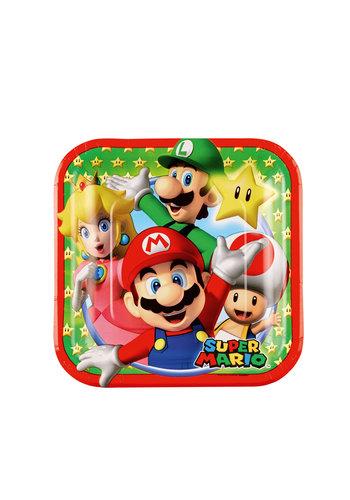Super Mario borden Paper Squared - 8 st - 17,7 x 17,7 cm