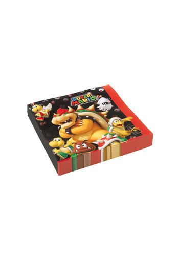 Super Mario servetten - 20st - 33 x 33 cm