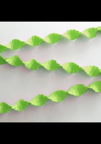 Crepe Guirlande Lime Groen - 6 meter