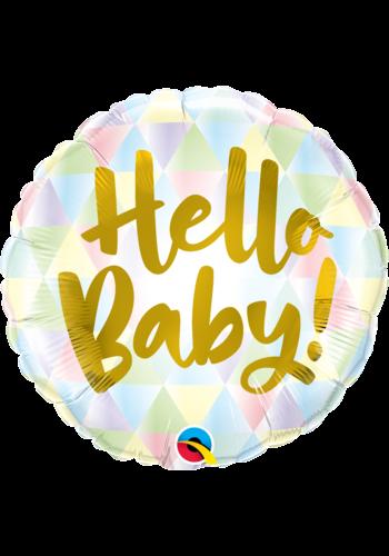 Folieballon Hello Baby Ombre - 45cm
