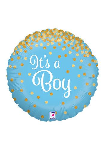 Folieballon Glitter Holographic It's a Boy - 45 cm