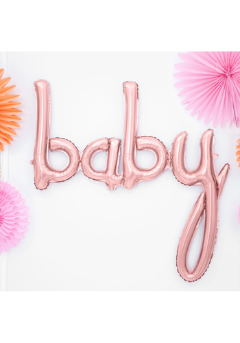 "Folieballon ""BABY"" Rosé Gold - voor luchtvulling -73,5x75,5cm"