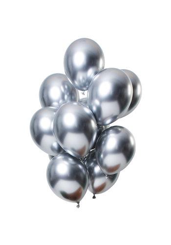 Ballonnen Chrome Zilver - 33cm - 12 stuks