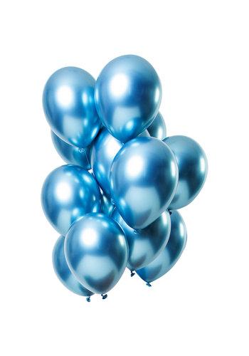 Ballonnen Chrome Blauw - 33cm - 12 stuks