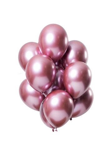 Ballonnen Chrome Roze - 33cm - 12 stuks