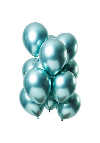 Ballonnen Chrome Groen - 33cm - 12 stuks