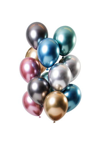 Ballonnen Chrome Mix - 33cm - 12 stuks