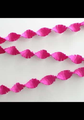 Crepe Guirlande Hot Pink - 24 meter