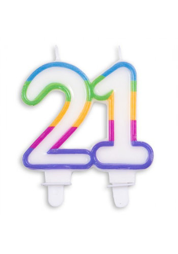 Cijferkaarsje 21