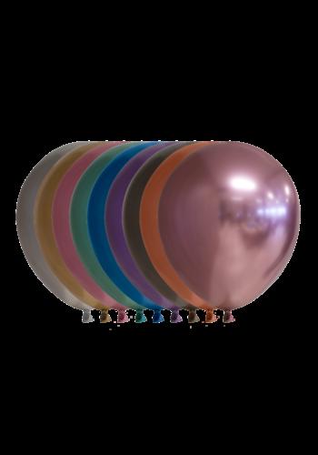 Mix van kleuren Chrome - 13 cm - 100 stuks