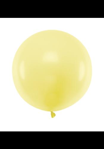 Ronde ballon 60 cm - pastel lichtgeel - 1 st