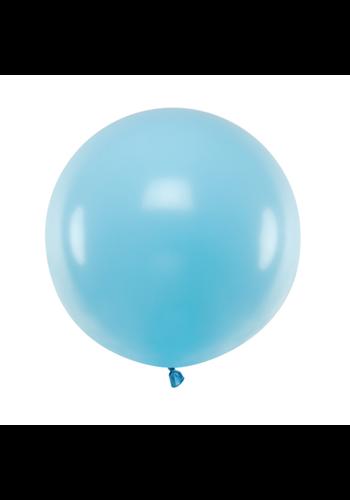 Ronde ballon 60 cm - pastel lichtblauw - 1 st