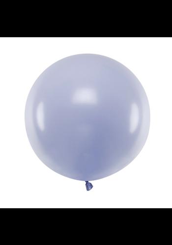 Ronde ballon 60 cm - pastel lichtpaars - 1st