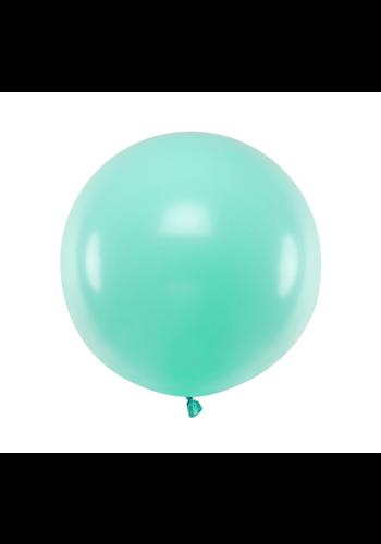 Ronde ballon 60 cm - pastel mint - 1st