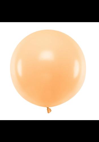 Ronde ballon 60 cm - Pastel Perzik - 1st