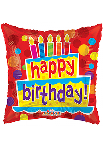 Folieballon Verjaardagstaart & Kaarsjes - 46cm