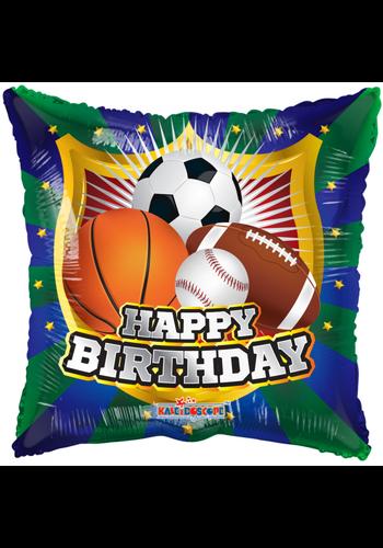 Folieballon Happy Birthday Shield Sports - 46cm