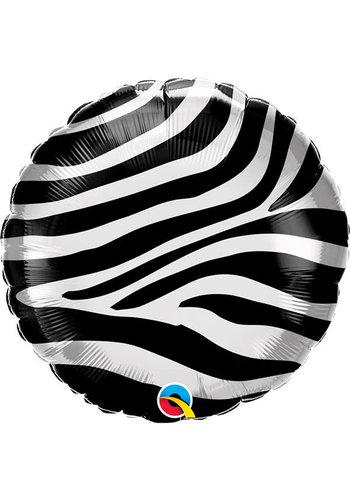 Folieballon Zebra Print - 45 cm