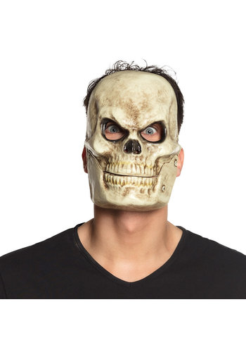 Plastic Masker met bewegende kaak - Skull