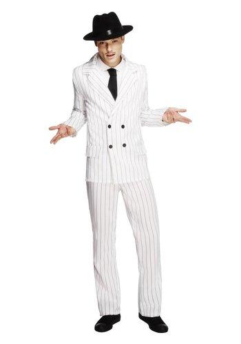 Gangster-kostuum - Wit
