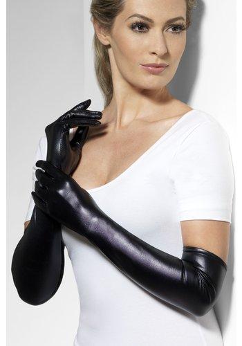Handschoenen - Wet Look Zwart