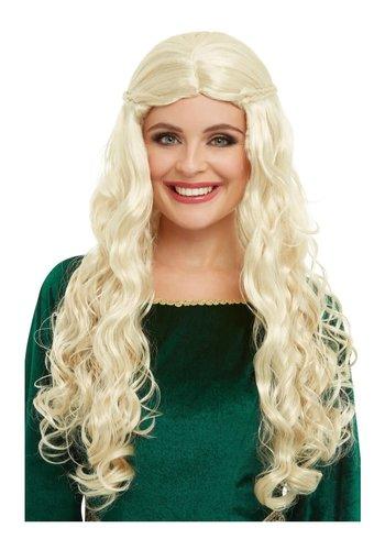 Middeleeuwse Koningin Pruik - Blond