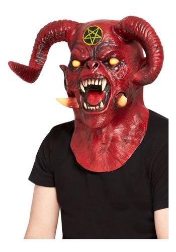 Latex Deluxe Satanic Devil Masker