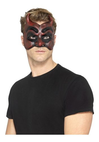 Masquerade Devil Mask - Latex - Heren